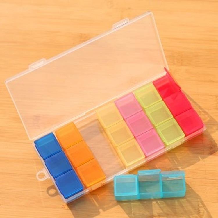 Adjustable PP Pill Cases Practical New 21 Slots Mini Travel Seven Days Drug Splitters Portable Medical Box Random Color Hot Sale