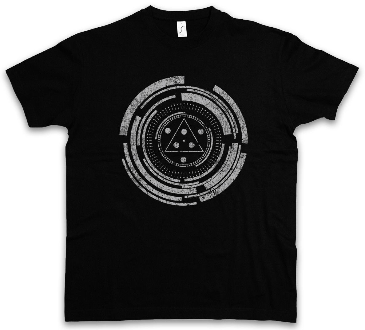 TECHNOLOGY CIRCLE T-SHIRT Spiral Mystic Science Labyrinth Esoterik