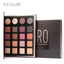 Focallure 20 Color Matte Eye Shadow Palette Shimmer Makeup Palette Glitter Waterproof Lasting Eyes Cosmetic