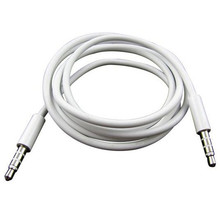 Car-styling Kongyide Cables Male Aux 4 Pole 1m 3.5mm Record Car Aux Audio Cord Headphone Connect Cable td2 dropship