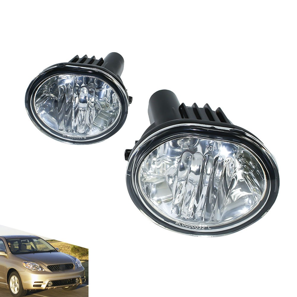 цена на Fog light for 2003-2008 Toyota Matrix Pontiac Vibe fog lamps Clear Lens Bumper Fog Lights Driving Lamps TT100924-CL