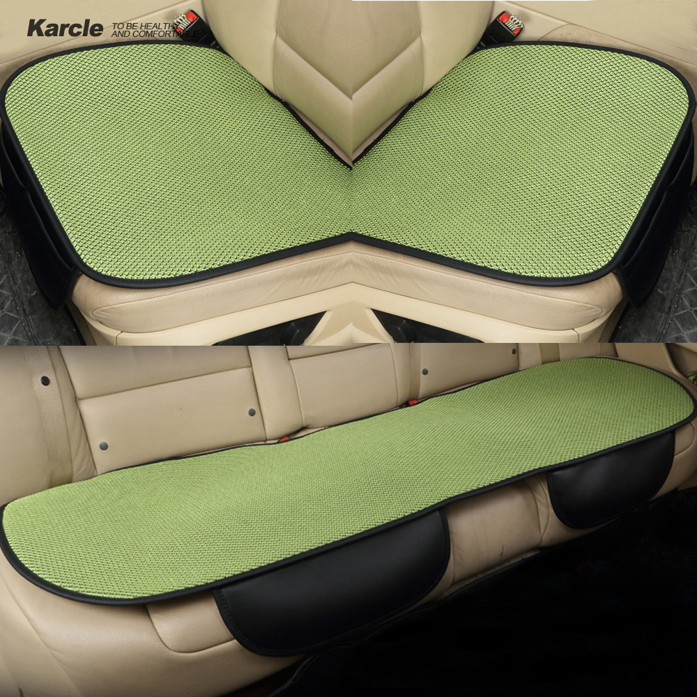 karcle 3pcs universal car seat cover set breathable winter car seat cushion car styling back. Black Bedroom Furniture Sets. Home Design Ideas