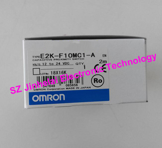 100% Authentic original OMRON CAPACITIVE PROXIMITY SWITCH E2K-F10MC1-A 2M 12-24VDC