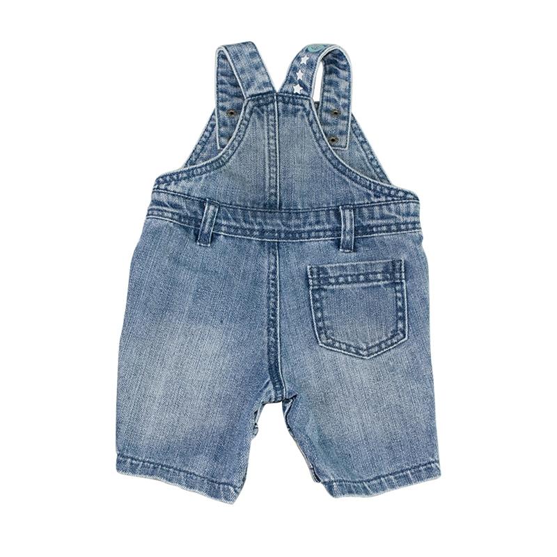 33ad6af3fcc9 ... 2 Baby Shorts Denim Jumpsuits Infant Toddler Kids Boys Girls Jeans  Rompers ...