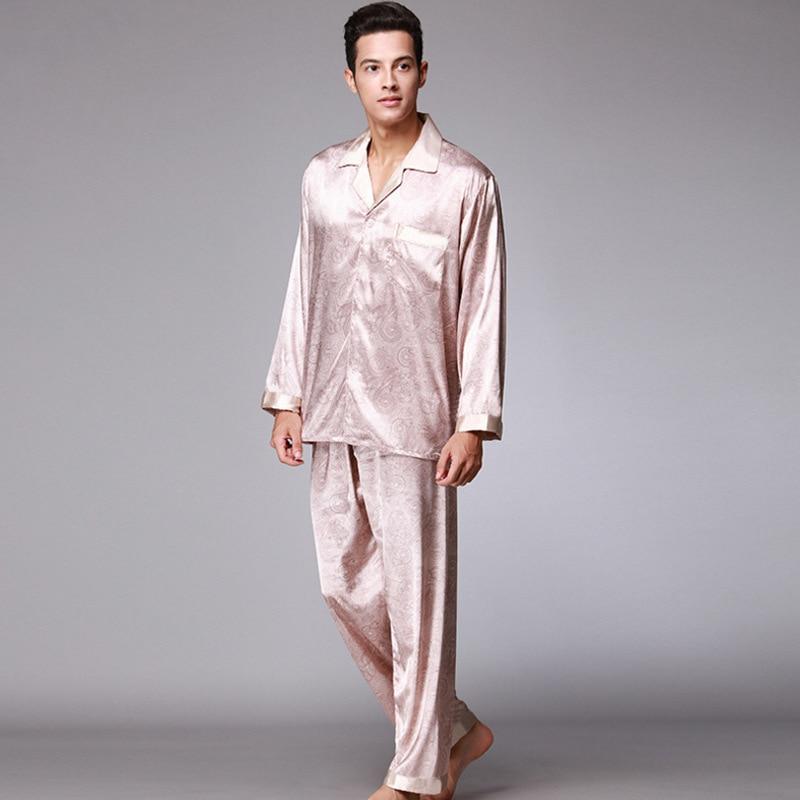 37154d5ca7 EASTQUEEN sleepwear with dragon gown chinese style male silk bathrobe bath  robe men. Add Cart.  18.46. Aerlxemrbrae PS006 Spring Autumn Full Sleeves  Pyjamas ...