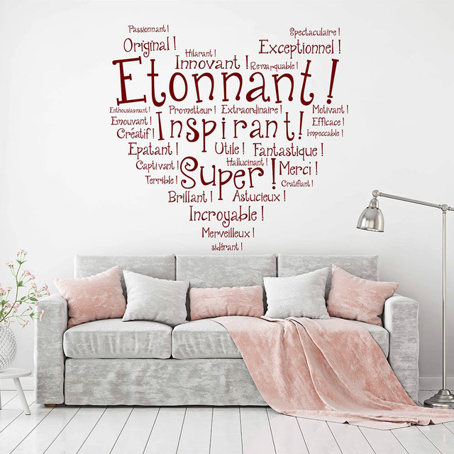 Aliexpress.com : Buy French Inspired Quotes Wall Sticker ...