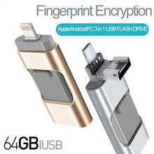 USB Flash Drives for iPad Andriod Pen-Drive Memory Storage Flash Drive Lightning Memory Stick External Storage for iphone 7 plus