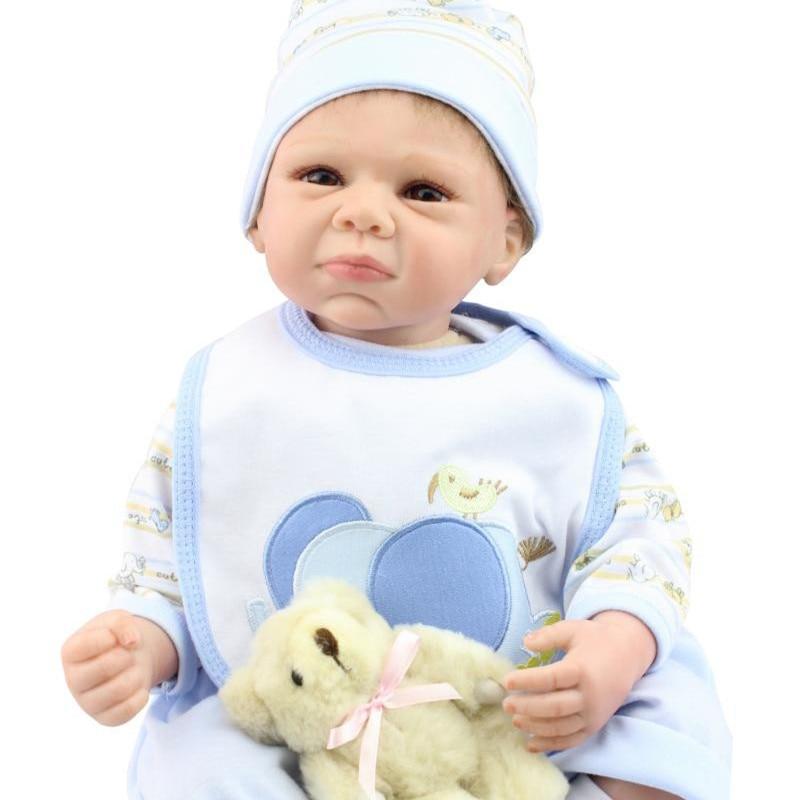 46a742dc0c2 50 55 cm Cry Baby Boy Dolls For Adoption Realistic Silicone Reborn Baby  Dolls Child Sleep Partners Cheap Newborn Dolls Online on Aliexpress.com