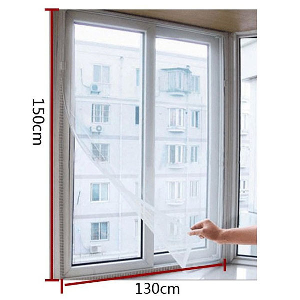 New Mesh Screen Curtain White Door Window Flyscreen Wire Net Fly Bug Mosquito Transparent