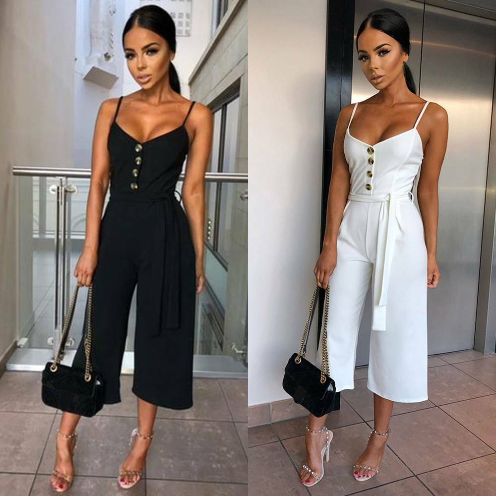 Summer Women Ladies Clubwear Playsuit Fashion Bodycon Party   Jumpsuit   Romper Trousers Casual Loose Linen Cotton   Jumpsuit