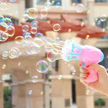 Bubble Blower Machine Summer Funny Magic Electric Automatic Bubble Maker Gun with Mini Fan Kids Outdoor Toys Wedding Supplies