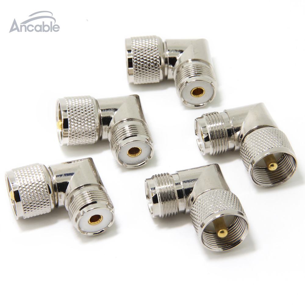 USA-CA RG58 UHF Male Angle to PL259 UHF MALE Coaxial RF Pigtail Cable