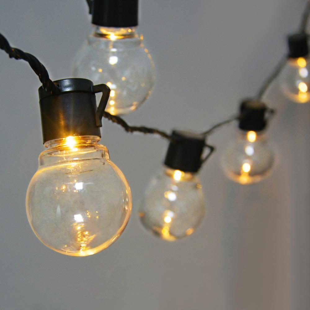 15 m luzes de natal ao ar livre led string luz rua guirlanda decoração do ano novo lâmpada led globo festão feriados decoração