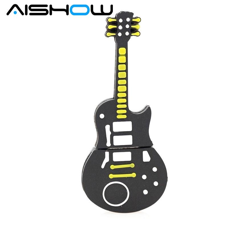 Miniseas Free H2textw Software Jewellry Rock Electric Guitar 8G/16G/32G/64G Real Capacity Pendrive Pen Drive Usb Flash Drive
