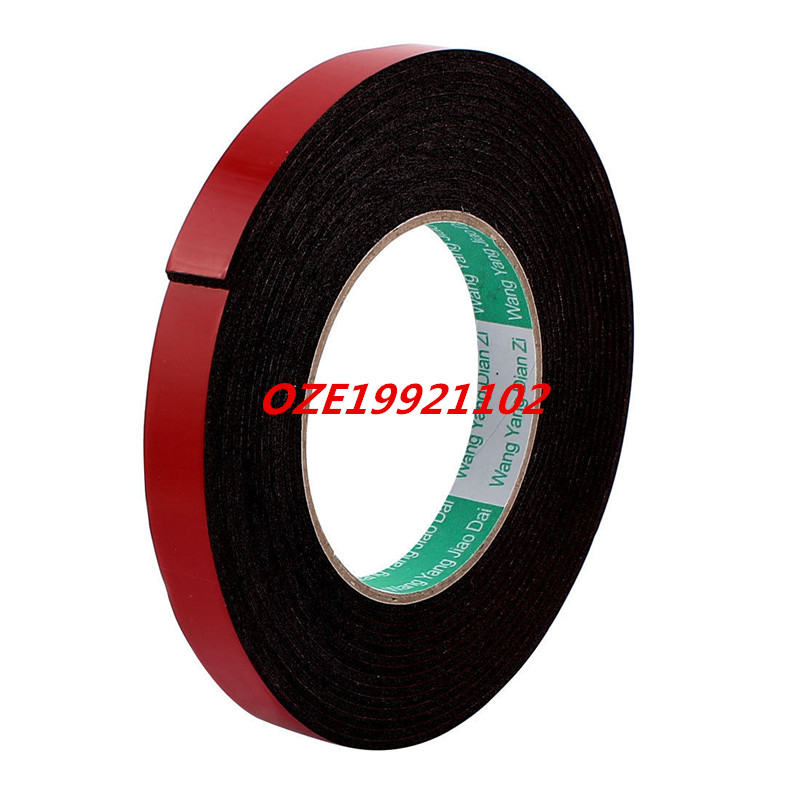 15mmx2mm Double Sided Sponge Tape Adhesive Sticker Foam Glue Strip Sealing 16Ft 2pcs 2 5x 1cm single sided self adhesive shockproof sponge foam tape 2m length