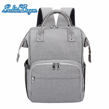 SeckinDogan Diaper Bag USB Charging Waterproof Baby Backpack for Mom Travel Large Capacity Maternity Bag Diaper Baby Bag