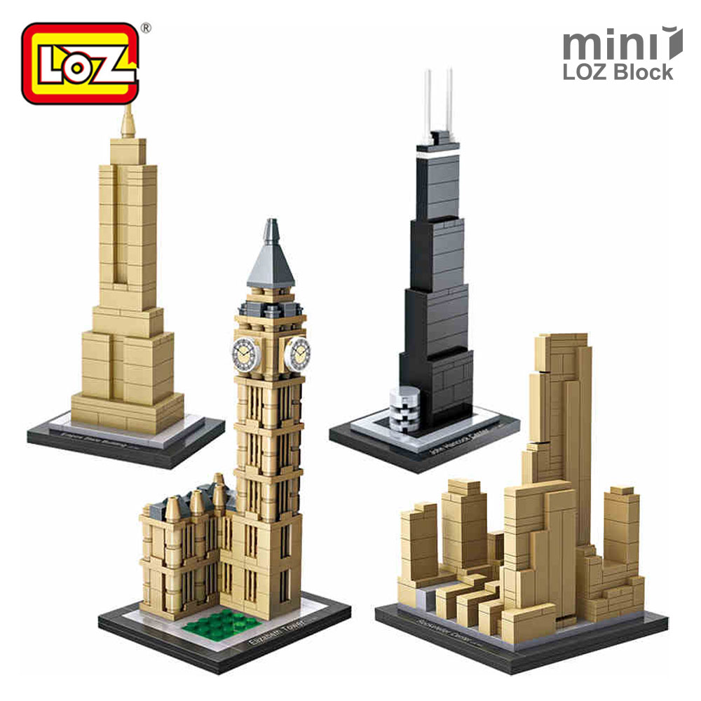 LOZ Mini Blocks Architecture Blocks Small Building Blocks City Diy Creative Bricks Toys House Model Toy Tower Farnsworth House loz architecture famous architecture building block toys diamond blocks diy building mini micro blocks tower house brick street