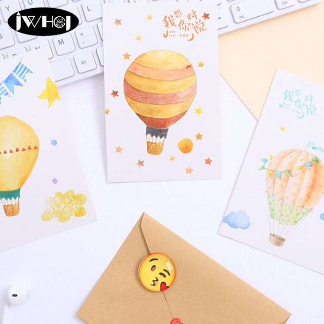 30pc Just want tell you Postcard Watercolor balloon paper card ...