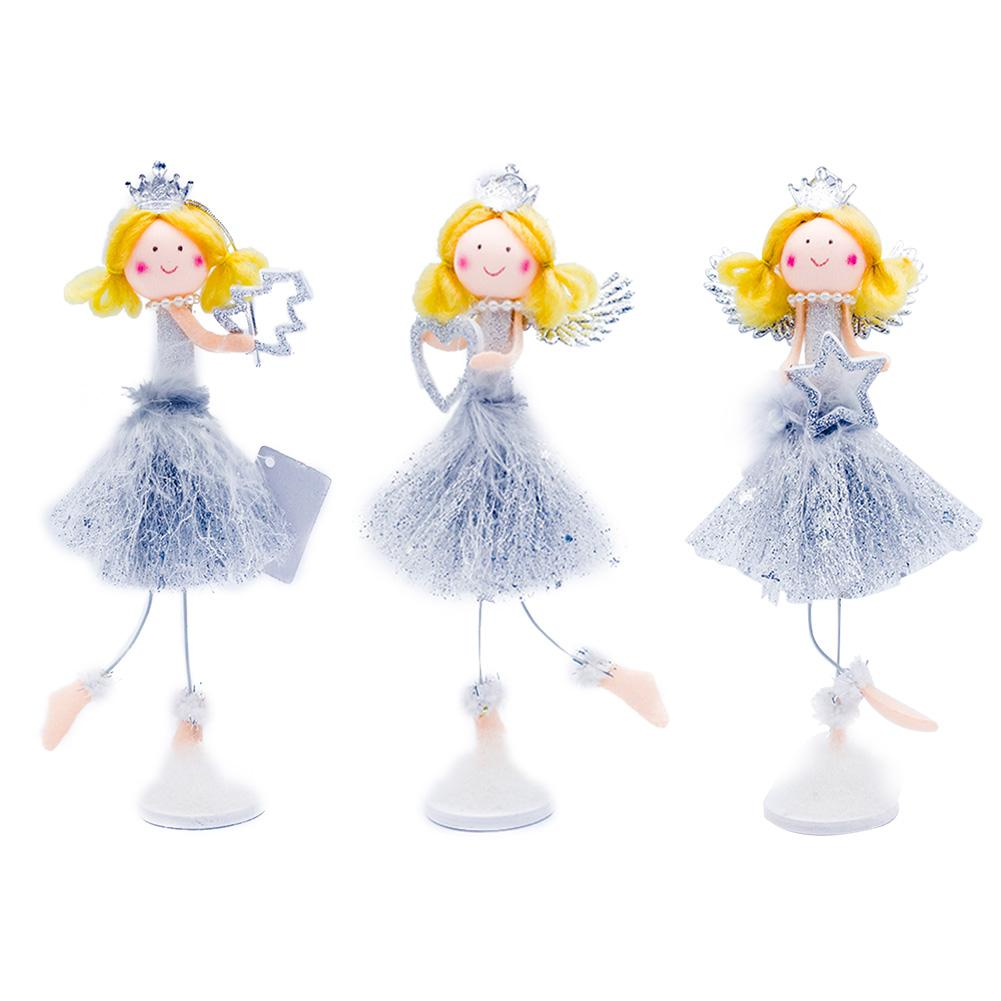 1Pc Christmas Golden Hair Girl Angel Xmas Tree Topper Innovative Christmas Blonde Angel Doll Decoration for Girl Gifts in Pendant Drop Ornaments from Home Garden