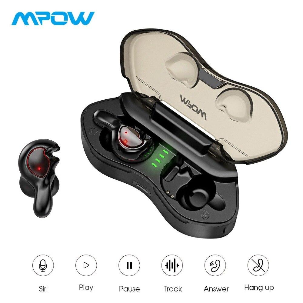 Mpow T7 True écouteurs sans fil ergonomique Super léger Bluetooth 5.0 écouteurs avec des Microphones cristallins pour iPhone XS/X/8/7/6