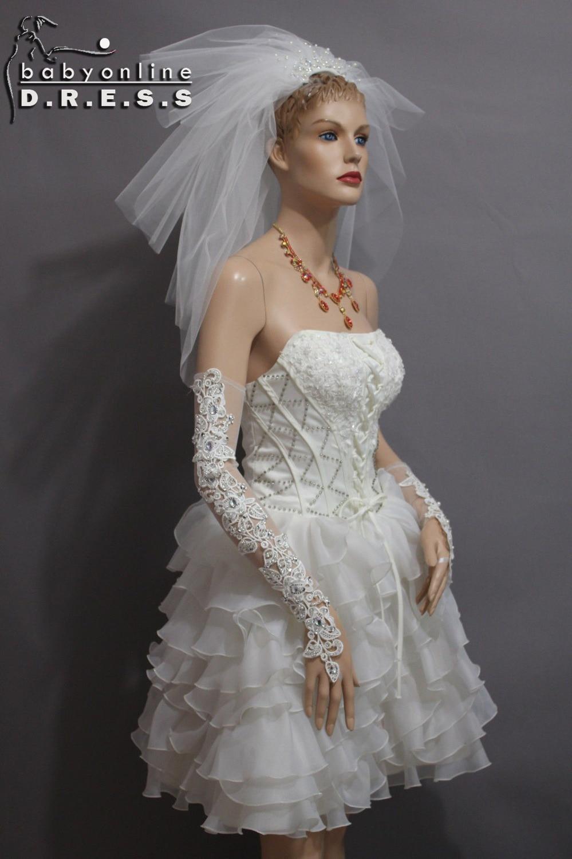 Short Wedding Dresses with Gloves – fashion dresses