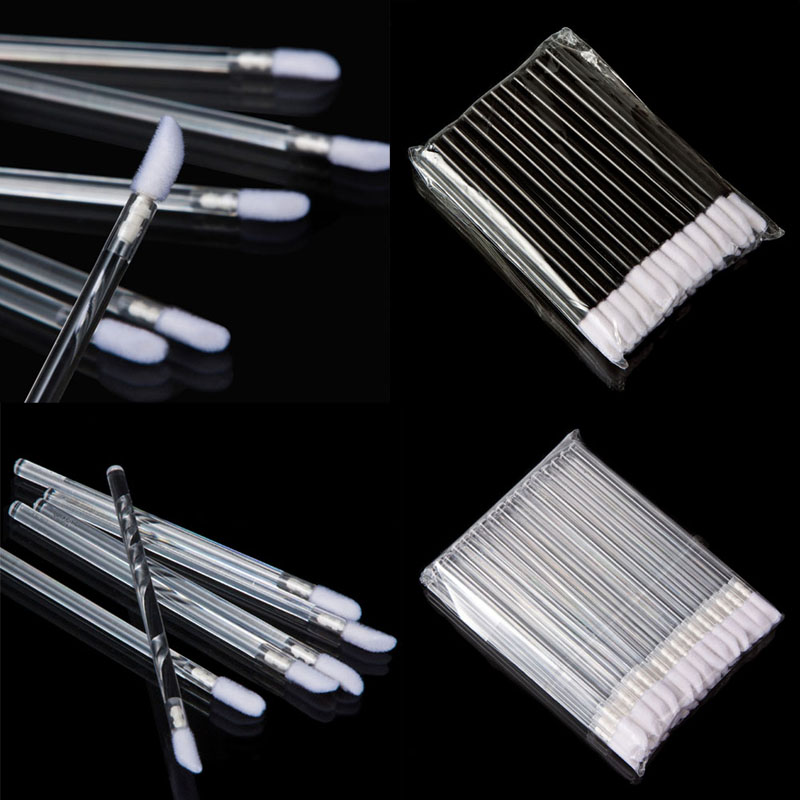 Professional 100pcs 50pcs Disposable Lip Brush Lipstick Gloss Wands Lipbrush Makeup Tool Beauty Tools