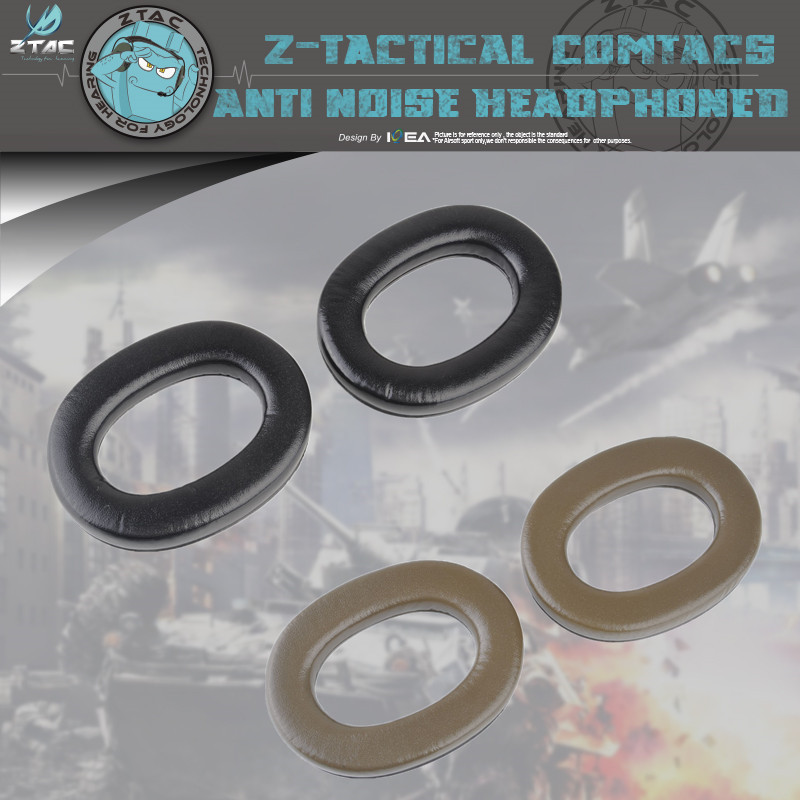 Element Z-TAC Tactical Comtac-ii C2 Electronic Pickup Noise Reduction Tactical Earphone Earmuffs Ear Pad Spares Z007