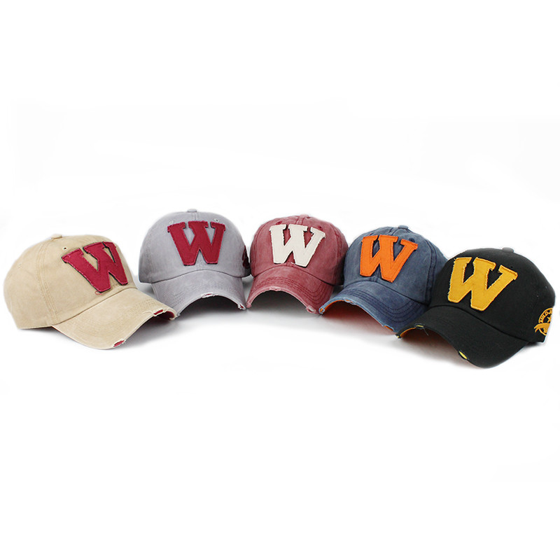 Cotton-Embroidery-Letter-W-Baseball-Cap-Snapback-Caps-Bone-Sports-Hat-Distressed-Wearing-Style-Outdoor-Hat (1)