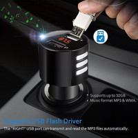 fm משדר High Speed USB 2.0 Bluetooth לרכב USB מטען LED מסך משדר FM אלחוטי רדיו מתאם נגן MP3 מצית סיגריות # YL6 (5)