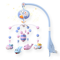 Baby Crib Mobiles Rattles Toys Bed Bell Carousel For Cots Projection Infant Babies Toy 0 12 months For baby gifts