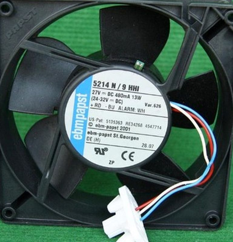For Original EBMPAPST 5214N/9HHI 27V 480MA 13W With A Thermostatically Controlled Cooling Fan