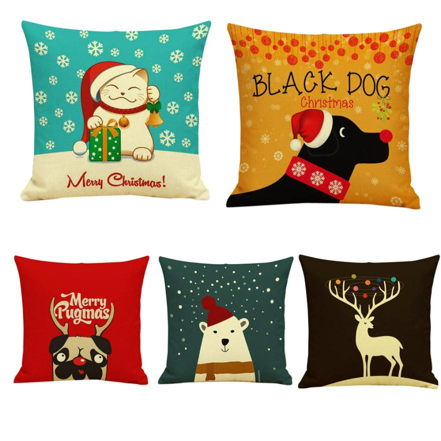 Hot-sale Christmas Cartoon Sofa Bed Home Decoration Festival Pillow Case Cushion Cove Best Price Apr12