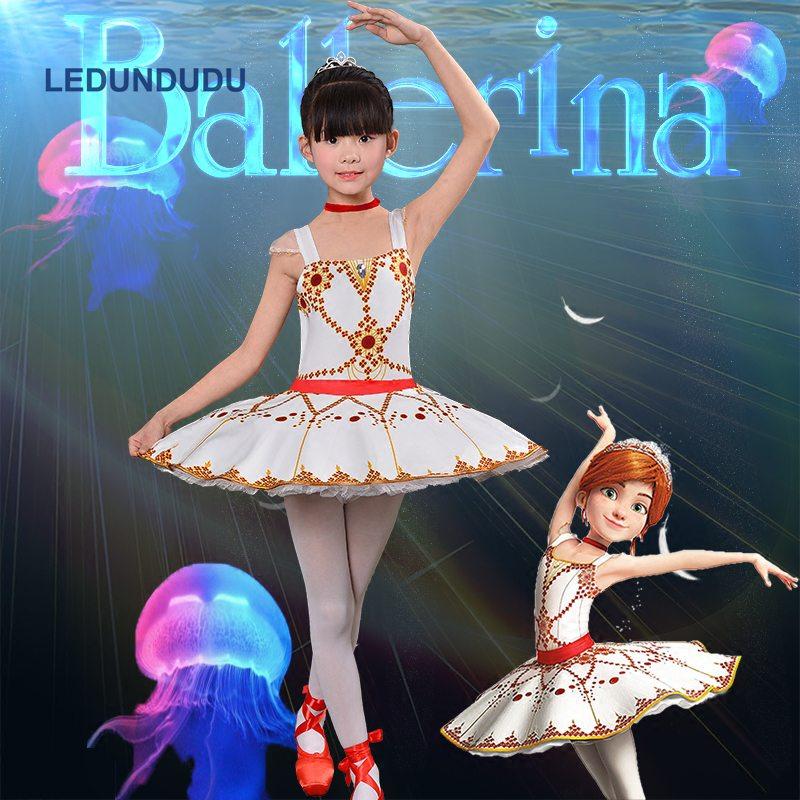 Girls Felicie Tutu Dress Kids Ballerina Fancy Cosplay Costume Ballet Dance Skirt