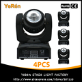 (4PCS) Led Moving Head Beam Light 40W RGBW Quad-Color Led Lamp DMX 7/16 Channels Stage Lighting DJ Effect Disco Light