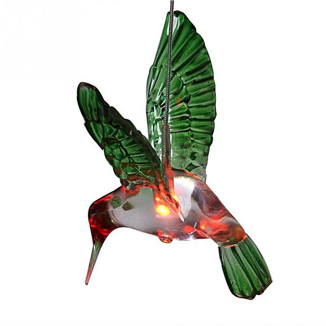 Superieur Christmas New Year Garden Landscape Lighting Lamp Color Changing LED Hummingbird  Solar Light Wind Chimes