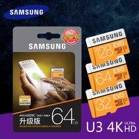 Оригинальный samsung EVO 16 Гб оперативной памяти, 32 Гб встроенной памяти, 64 ГБ 128 ГБ SDHC gps карт записки C10 64 ГБ Памяти SDXC с U3 интеллектуальный контро...