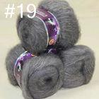 Lot of 3 balls MOHAIR 50% Angora goats Cashmere 50% silk hand Yarn Knitting slate gray #19