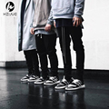 2016 hip hop Джастин Бибер одежда шаровары моды Khaki/черный S-XL chinos мужчины jogger молнии юниоры брюки-карго
