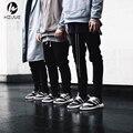 2016 hip hop justin bieber roupas harem pants moda khaki/preto s-xl chinos homens basculador zíper juniors carga calças
