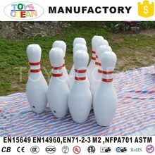 outdoor giant human inflatable bowling ball pin set sport game(China)