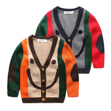 Мальчик свитер 2015 новой детской одежды зимняя одежда