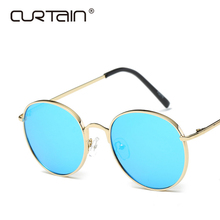 лучшая цена 2019 New Round Fashion Sunglasses Women Mirror Vintage Luxury Brand Designer Color Lens Sun Glasses Uv400 Sunglass Oculos De Sol