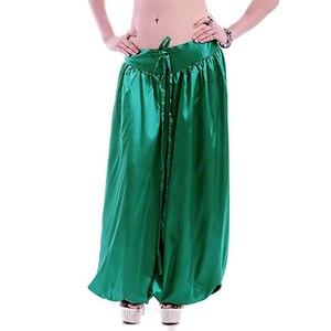 Image 5 - Hot sale ATS Tribal Belly dance Pants New Fashion Costume bellydance pants Bellydancing satin bloomers Dance Pantaloons 9002