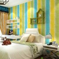 Multicolor Bambini Room Muro Rotolo Di Carta Sfondi Non Tessuto Striscia Verticale per il Bambino Ragazze Camera Da Letto Decorazione Murale Rosa Blu