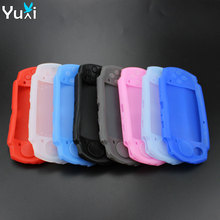 цена на YuXi Soft Silicone Body Protector Skin Cover Case For PSP 2000 3000 Console Protective Case