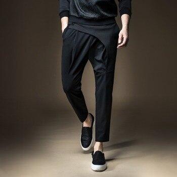 Men's Slim Black Tide Pants