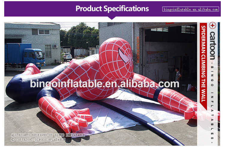 BG-A1227-Spiderman-Climbing-the-wall-bingoinflatables_01