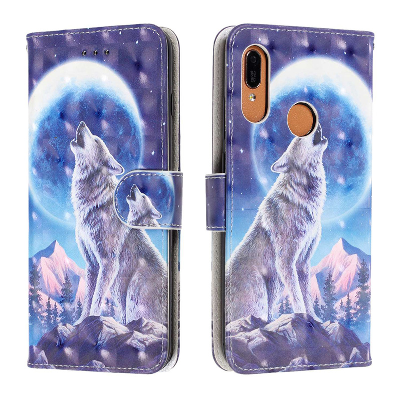 3D Wallet Cases For Huawei Y6 Y5 Y7 Prime Y9 2019 Y6 2018 Case Flip TPU Leather Cover For Huawei Honor 8A 7A Pro 7C Phone BOOK in Flip Cases from Cellphones Telecommunications