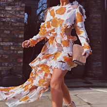Missord женское летнее сексуальное платье с круглым вырезом и открытой спиной, Женское Платье макси с цветочным принтом, элегантное пляжное платье FT1052