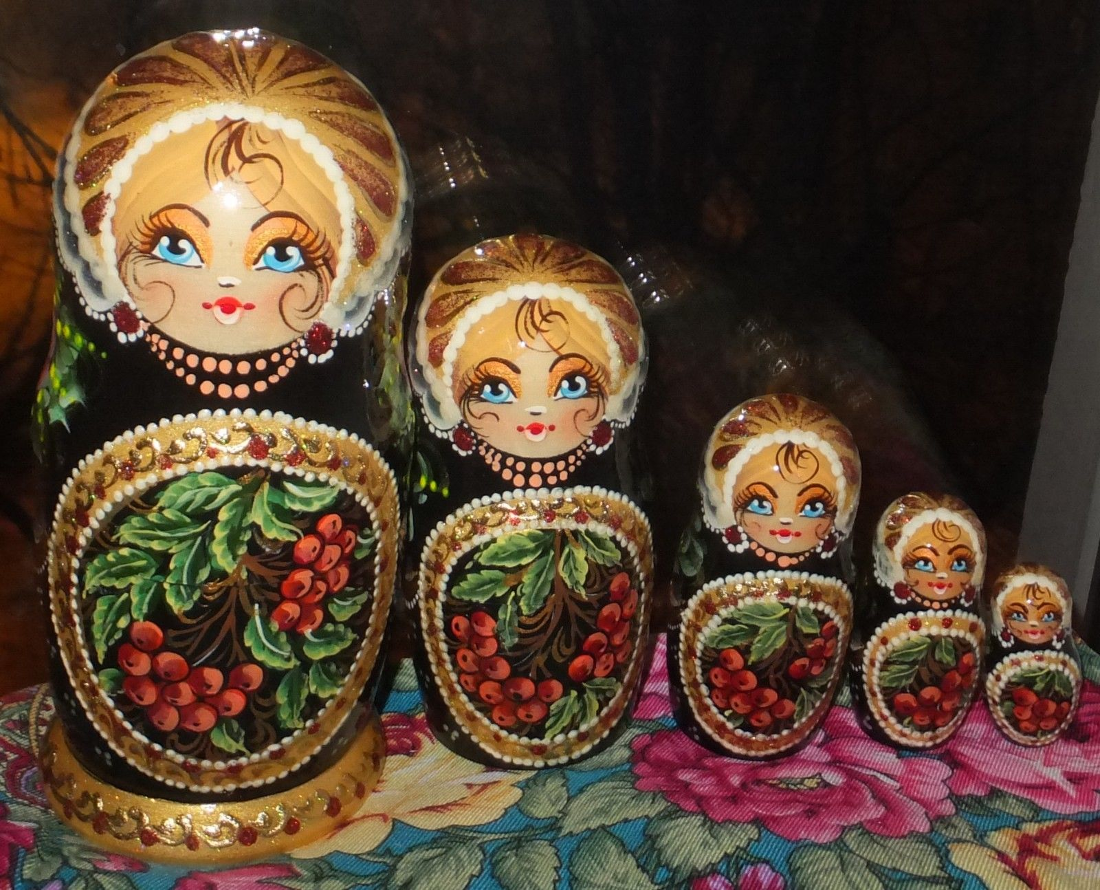 Russian Matryoshka Doll Nesting Babushka Beauty Girl Handmade